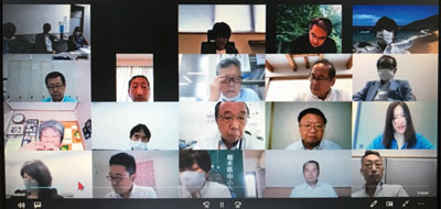 関東甲信越ブロック代表者ZOOM会議